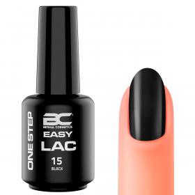 BC Easy Lac (Esmalte Permanente 4 en 1) Nº 15 - Black - 15ml