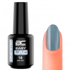 BC Easy Lac (Esmalte Permanente 4 en 1) Nº 18 - Dark Grey  - 15ml