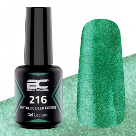 BC Gel Lacquer Nº216 - Metallic Deep Forest - 15ml